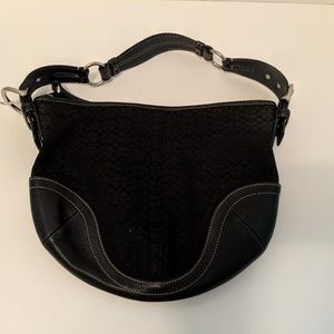 Coach Black Soho Hobo purse